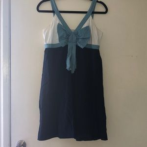 Swiss dot sundress with bow detail